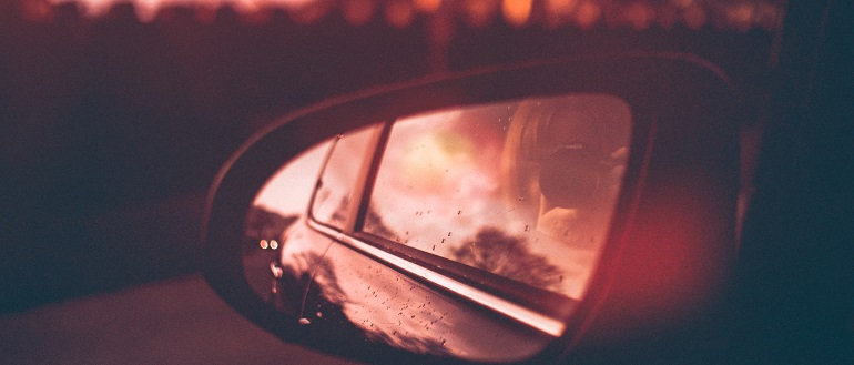 Canva - Close-Up Photography of Side Mirror During Dawn