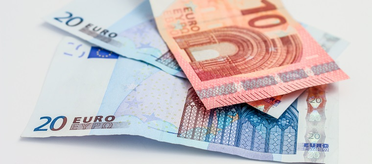 Canva - Two 20 and One 10 Euro Banknotes