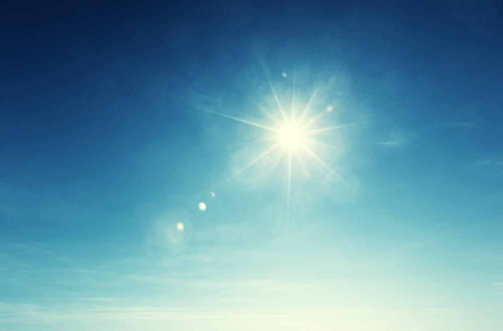 blue sky and sun-1