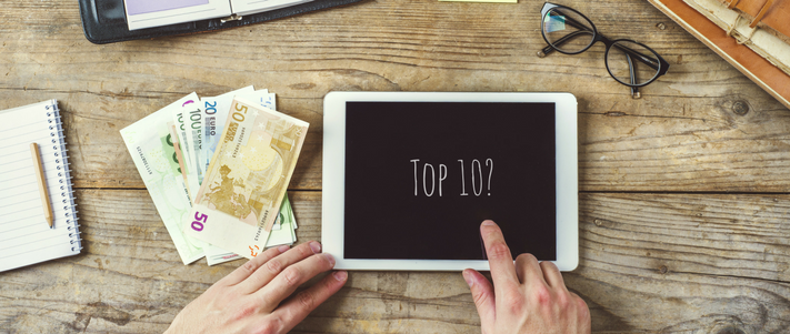 top ten for travel money