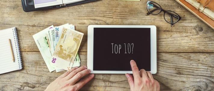 top ten for travel money